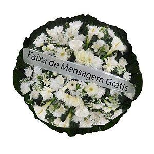 C - Coroa de Flores Pombinha Branca