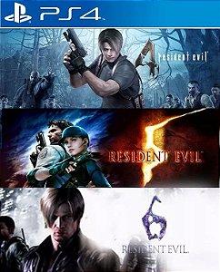 Resident Evil Triple Pack PS4  PSN Mídia Digital