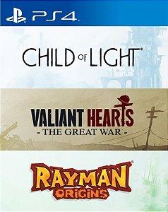 UbiArt Game Collection - Rayman Origins/Valiant Hearts: The Great War/Child of Light PS4  PSN Mídia Digital