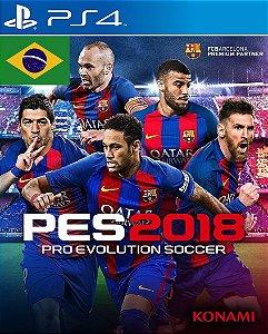 Pro Evolution Soccer 2018 PES 18 PS4  PSN Mídia Digital