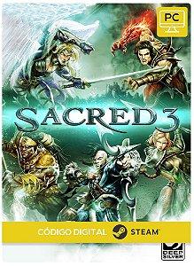 Sacred 3 Steam Pc Código De Resgate Digital