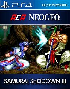 ACA NEOGEO SAMURAI SHODOWN III PS4 PSN Mídia Digital