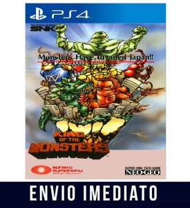 ACA NEOGEO KING OF THE MONSTERS  PS4 PSN Mídia Digital