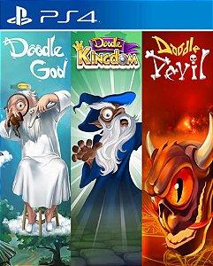 Doodle God, Doodle Devil & Doodle Kingdom PS4 PSN Mídia Digital