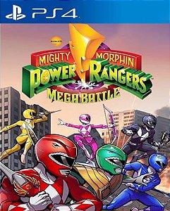 Saban's Mighty Morphin Power Rangers Mega Battle PS4 PSN Mídia Digital