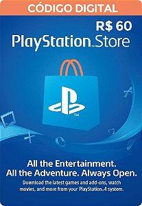 Psn CARD 60R$ Playstation Network