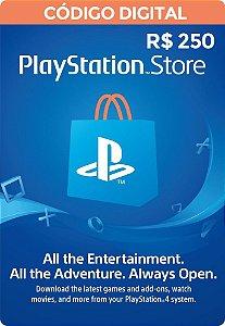 Psn CARD 250R$ Playstation Network