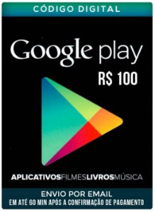 Cartão google play 100 R$