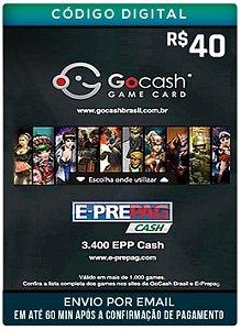Cartão GO cash 40 R$