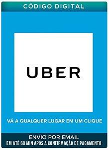 Cartão UBER 25 R$ - Uber card Resgate