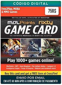 Game card Mol Points Rixty 75R$