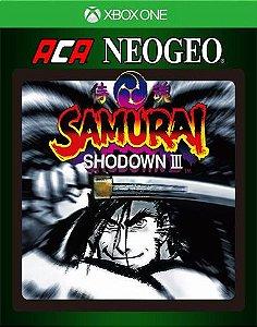 ACA NEOGEO SAMURAI SHODOWN III 3 Xbox One Código 25 Dígitos