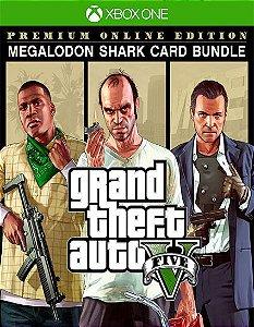 Grand Theft Auto V: Edição Online] Premium e Pacote de Dinheiro Megalodonte Xbox one Código 25 Dígitos