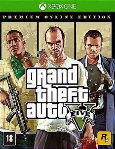 GTA V 5 Grand Theft Auto V Edição Online Premium Xbox One Código de Resgate 25 Dígitos