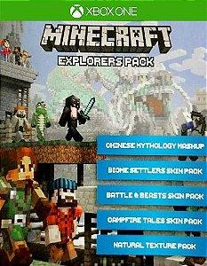 Minecraft with Explorers Pack  Xbox One Código de Resgate 25 Dígitos
