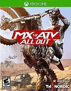 MX vs ATV All Out Xbox One Código de Resgate 25 Dígitos