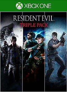 Pacote Triplo Resident Evil  Xbox One Código 25 Dígitos