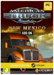 America Truck Simulator - New Mexico DLC Steam CD Key Pc Código De Resgate Digital