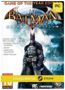 Batman: Arkham Asylum GOTY Steam CD key PC Código De Resgate Digital