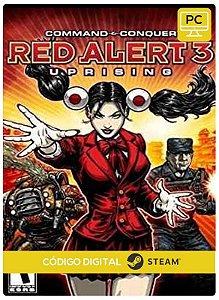 Command & Conquer Red Alert 3  Uprising   Steam Código de Resgate digital