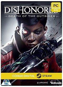 Dishonored Death of the Outsider  PC CD-KEY Steam Código De Resgate Digital
