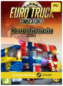 Euro Truck Simulator 2   Scandinavia DLC Steam Pc Código De Resgate Digital