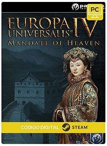 Europa Universalis IV - Mandate of Heaven Expansion  Steam  Pc Código De Resgate Digital