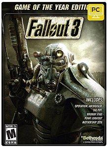 Fallout 3 GOTY RoW  Pc Steam cdkey Código De Resgate Digital