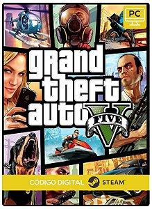 Gta 5 V Grand Theft Auto  Steam  CD Key Pc Steam Código De Resgate Digital