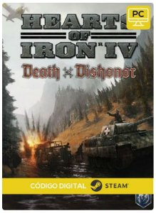 Hearts of Iron IV - Death or Dishonor DLC  Steam  CD Key Pc Steam Código De Resgate Digital