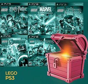 Pacote Especial PS3 - Lego -  Harry Potter, Marvel Avengers, Marvel Super Heroes, Senhor dos aneis, Piratas do Caribe