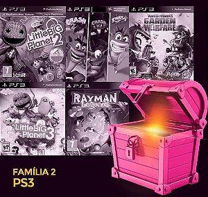 Pacote Especial PS3 - Família 2 - LITTLE BIG PLANET 2  LITTLE BIG PLANET 3, CRASH 1 2 3, RAYMAN LEGENDS,  PLANTS VS ZOMBIE