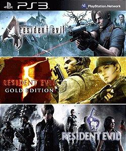 Resident Evil Triple Pack 4 5 6  PS3 PSN Mídia Digital