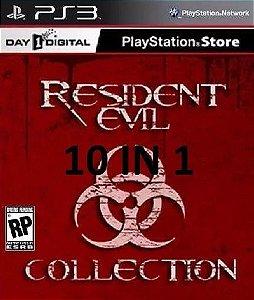 Resident Evil Combo Com 10 Jogos Para Ps3  PSN Mídia Digital