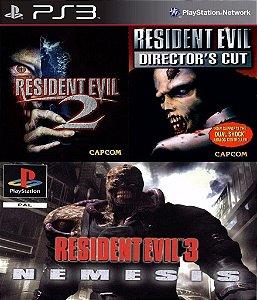 Resident Evil 1 2 E 3  PS3 PSN Mídia Digital