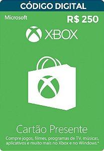 Cartão Xbox Live gift card 250 R$