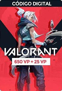 Valorant Card  VP - RIOT GAMES 650 VP + 25 VP Bônus