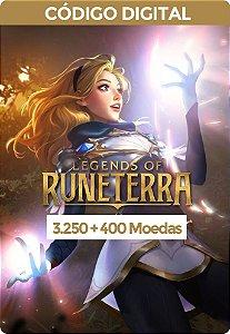Legends of Runeterra - RIOT GAMES 3.250 Moedas + 400 Bônus