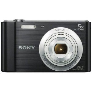 "Câmera Digital Sony Cyber-Shot DSC-W800 Preta - 20.1 MP, LCD 2.7"", Zoom Óptico de 5x, Estabilizador de Imagem, Foto Panorâmica e Vídeo HD"