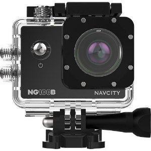 Câmera de Aventura Navcity NG-100 Preta 12MP Full HD com Case à Prova d'água 30m + Selfie Stick