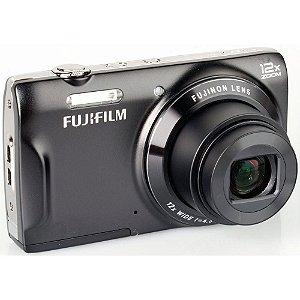 "Câmera Fotografica Digital Fujifilm T550 Preta - Lcd 3.0"" - 16Mp - Zoom Óptico 12X - Foto Panoramica E 3D"