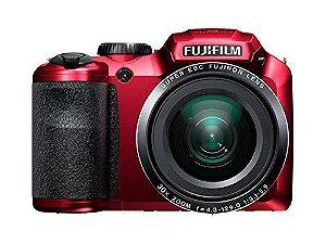 """Câmera Fotografica Fujifilm FinePix S4800 Vermelha com LCD 3.0"""", 16.MP, Zoom Óptico 30x, Vídeo HD, Foto 3D e Panorâmica"""