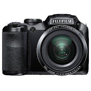 "Câmera Fotografica Fujifilm FinePix S4800 Preto com LCD 3.0"", 16.MP, Zoom Óptico 30x, Vídeo HD, Foto 3D e Panorâmica"