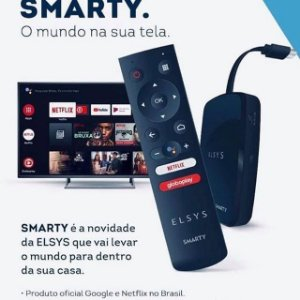 Aparelho Smart - Smarty da Elsys + Controle com comando de voz + Interação com Google Assistente