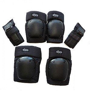 Kit de Proteção Crème - Joelheira, Cotoveleira e Wrist Guard