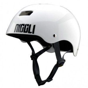 Capacete Profissional Niggli Pads Iron Light - Branco