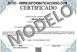 Certificado Rápido DIGITAL (Escolha o Curso)