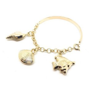 Pulseira Bracelete Infantil Mar Di Capri Semi Jóias X Ouro