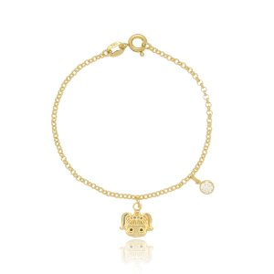 Pulseira Infantil Lol Surprise Unicorn Di Capri Semi Jóias X Ouro
