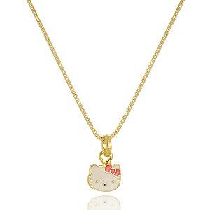 Colar Infantil Hello Kitty Di Capri Semi Jóias X Ouro